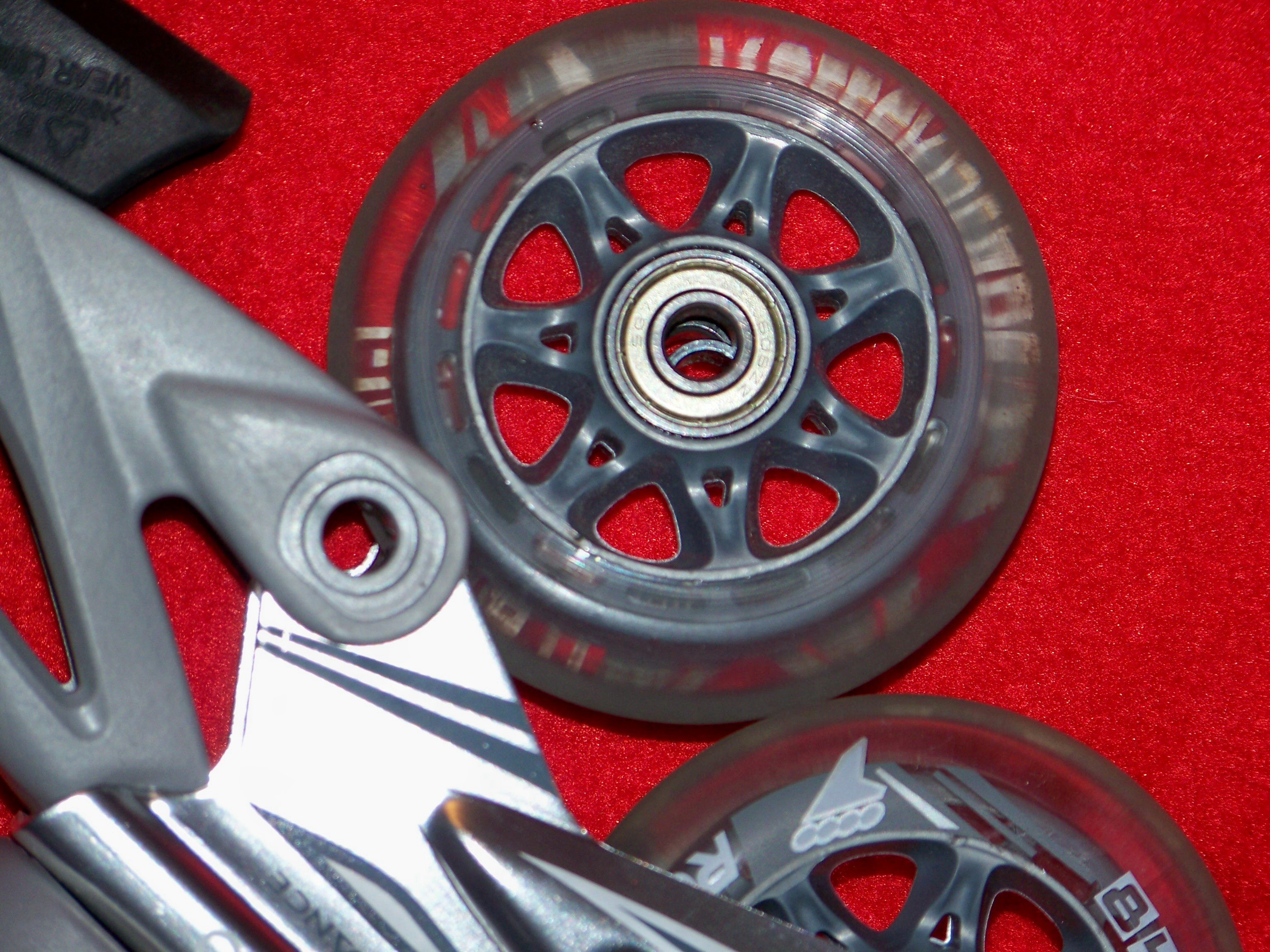 Bearing spacer is visible inside the wheel hub