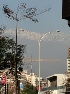 Mountains over Santiago